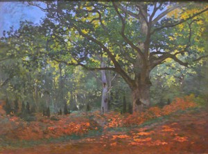 oct13,21,monet, claude, forest fountainbleau, early 1870s