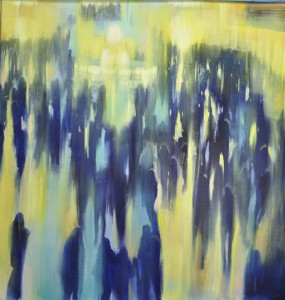 march14,17,Grand Central Station, Arrivals,step two, oil on canvas,48x48