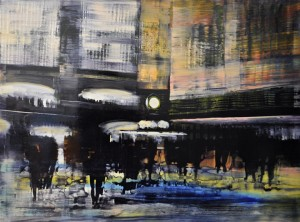 feb15,22,nyc gcs, dark pastels,sets of two, oil on anodized aluminum,36x36