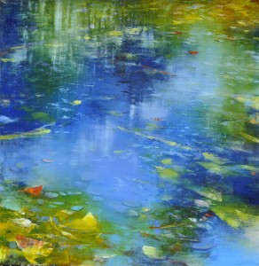 aug16,8,step 3,Crossing Reflections,oil on aluminum,36x36