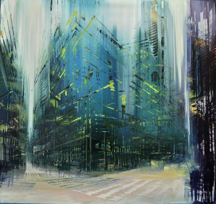 Double Vertex, Oil on canvas, 34x36