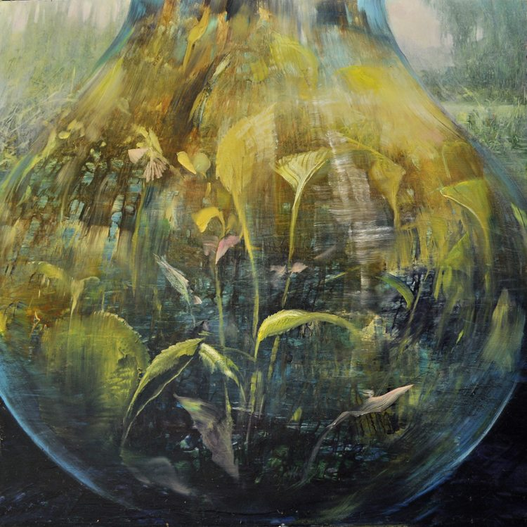 Secrets of an Urn  Oil on laminated aluminum, 24x24