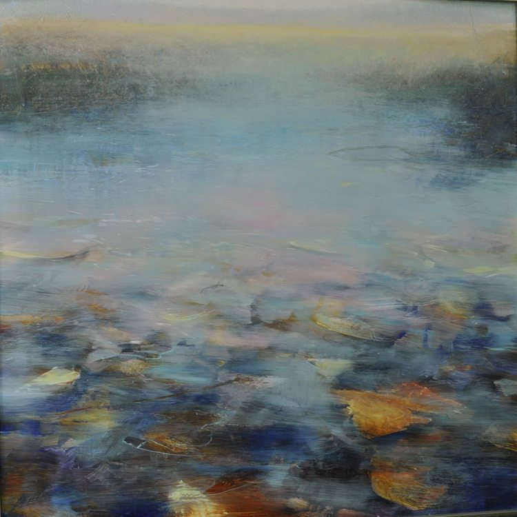 Waterscape, Search for Spring, Oil on laminated aluminum, 36x36